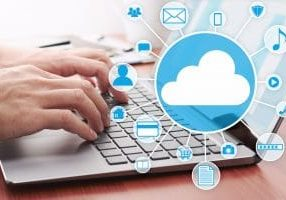 Cloud computing concept image.